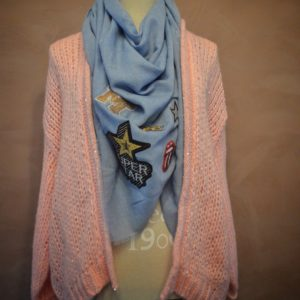 pink bernadette-patches scarf